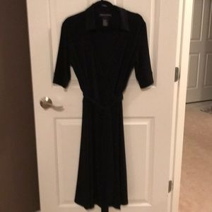 Jones New York black wrap dress